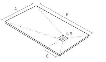 mesures slate shower trays