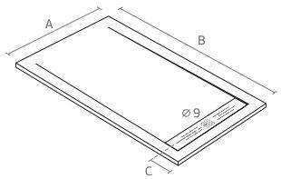 stone shower tray mesures 1